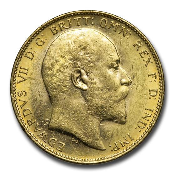 1902-M Australia Gold Sovereign Edward VII BU