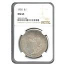 1902 Morgan Dollar MS-63 NGC