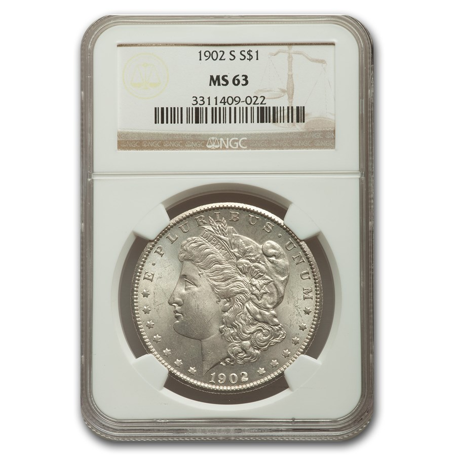 1902 Morgan Dollar MS-63 NGC