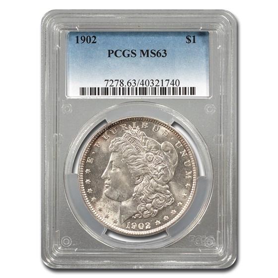1902 Morgan Dollar MS-63 PCGS