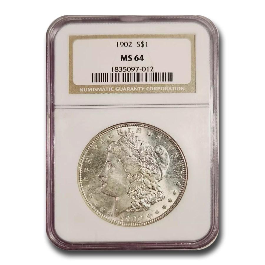 1902 Morgan Dollar MS-64 NGC