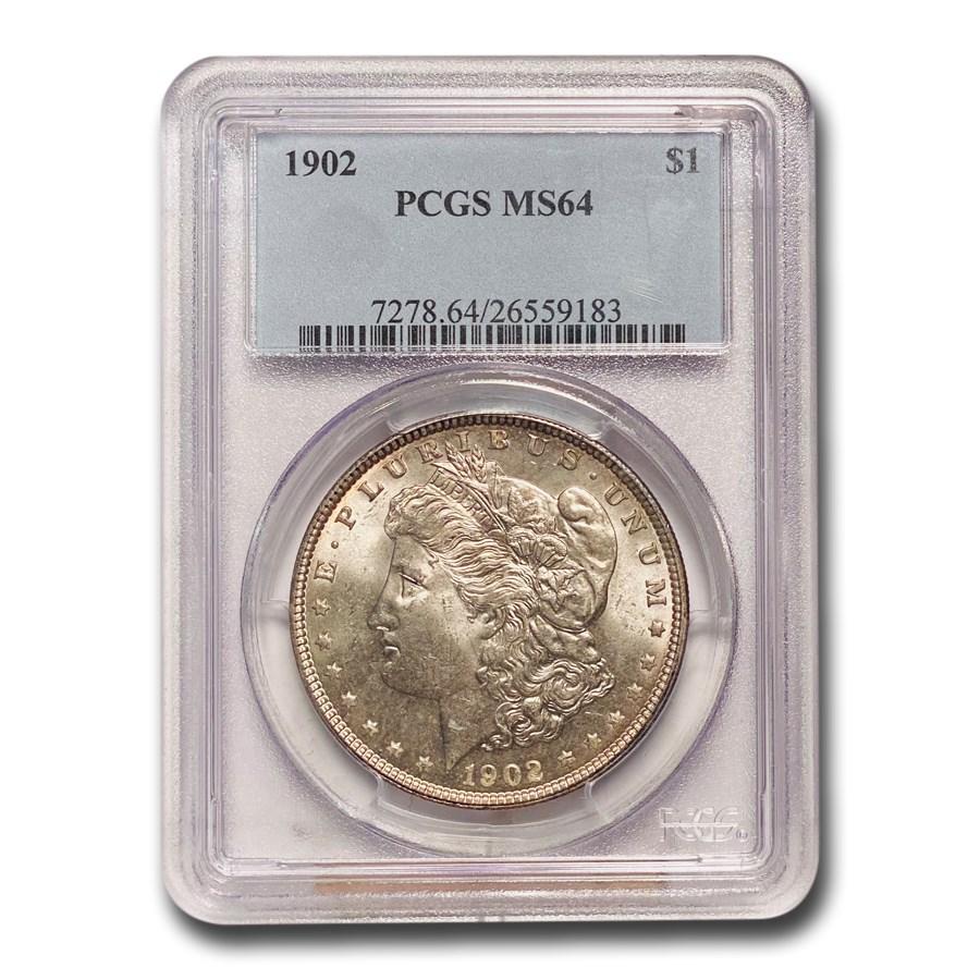 1902 Morgan Dollar MS-64 PCGS