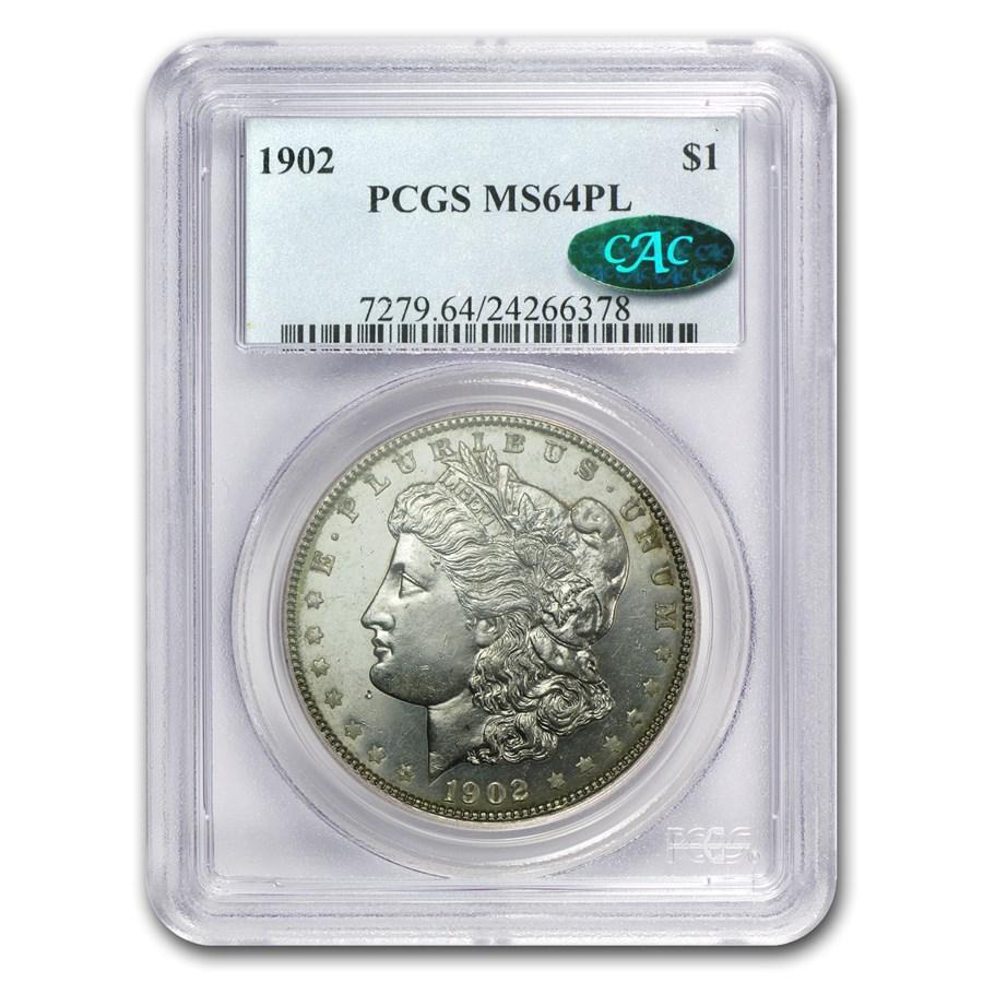 1902 Morgan Dollar MS-64 PL Proof Like PCGS (CAC)