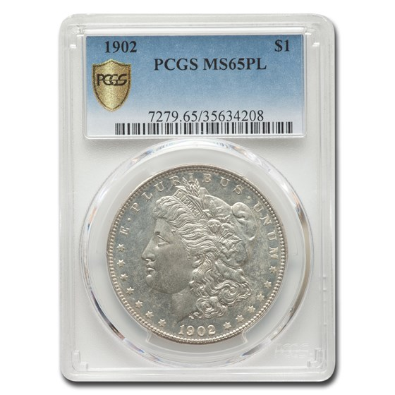 1902 Morgan Dollar MS-65 PCGS (PL)