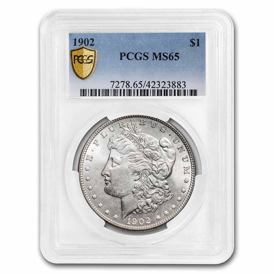 1902 Morgan Dollar MS-65 PCGS