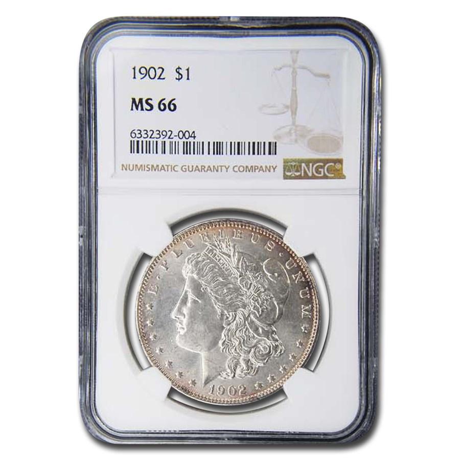 1902 Morgan Dollar MS-66 NGC
