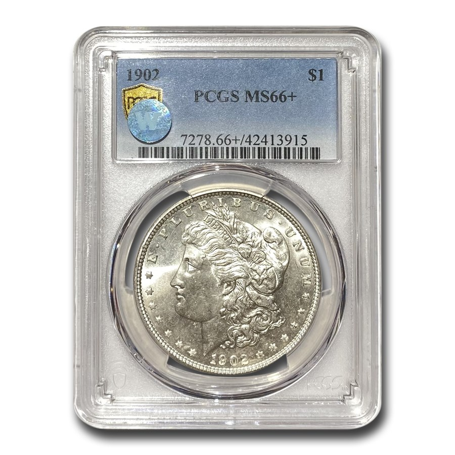 1902 Morgan Dollar MS-66+ PCGS