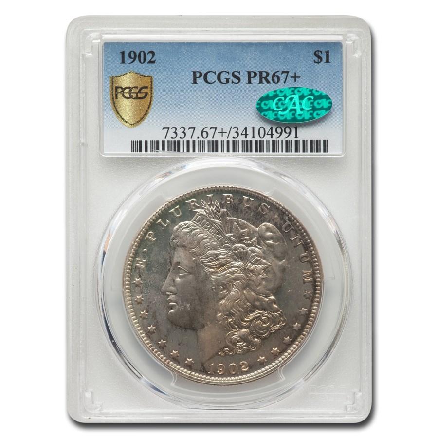 1902 Morgan Dollar PR-67+ PCGS CAC