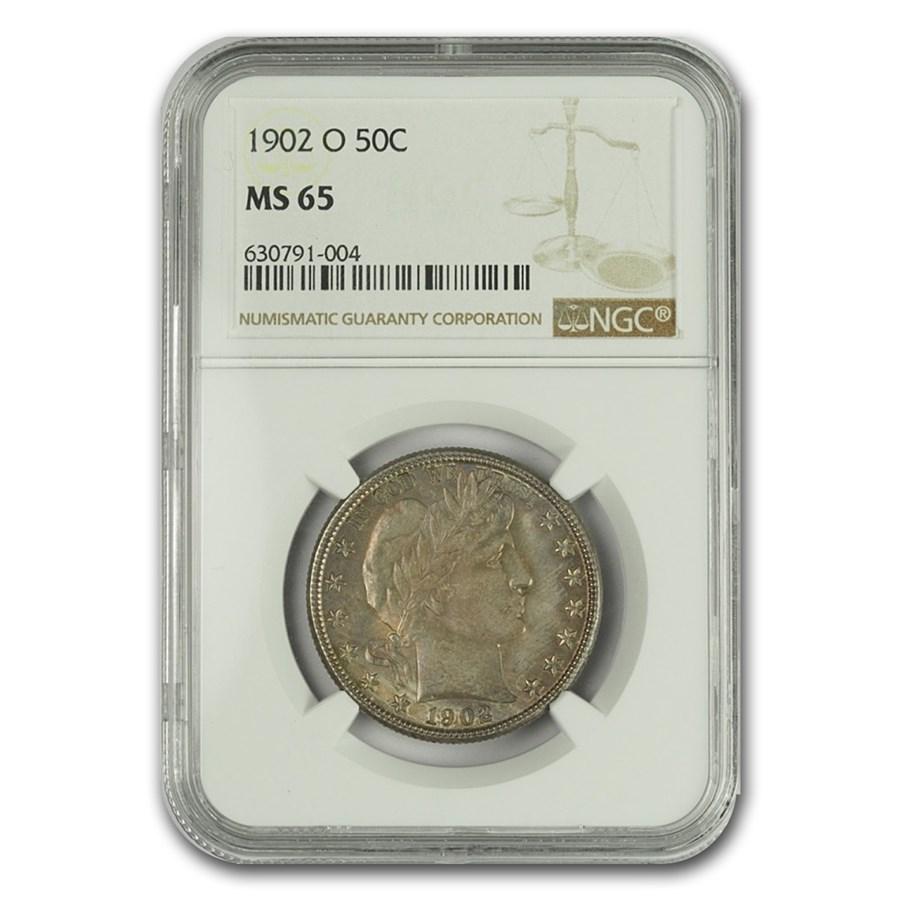 1902-O Barber Half Dollar MS-65 NGC