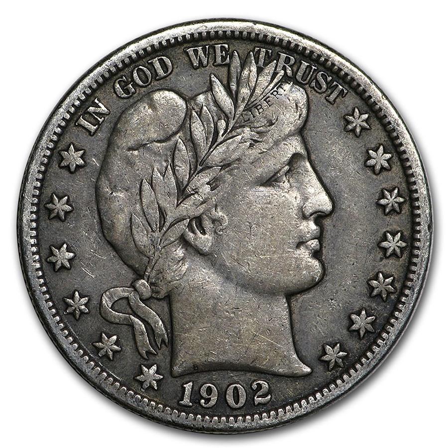 1902-O Barber Half Dollar XF