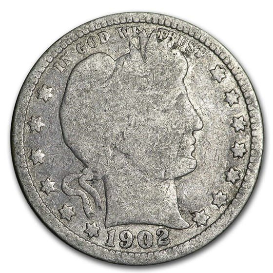 1902-O Barber Quarter AG