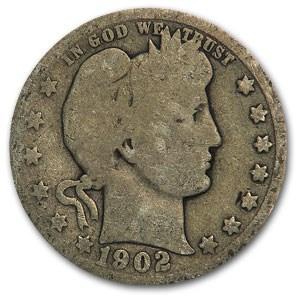 1902-O Barber Quarter Good
