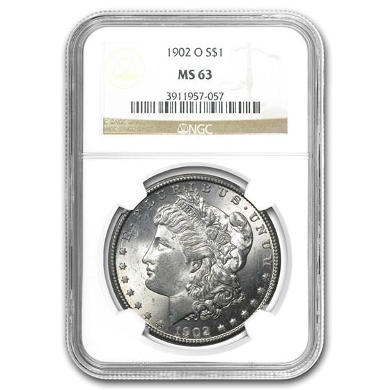 1902-O Morgan Dollar MS-63 NGC