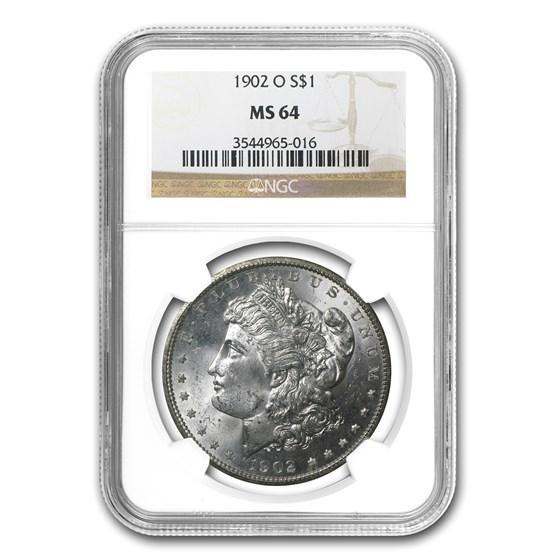1902-O Morgan Dollar MS-64 NGC