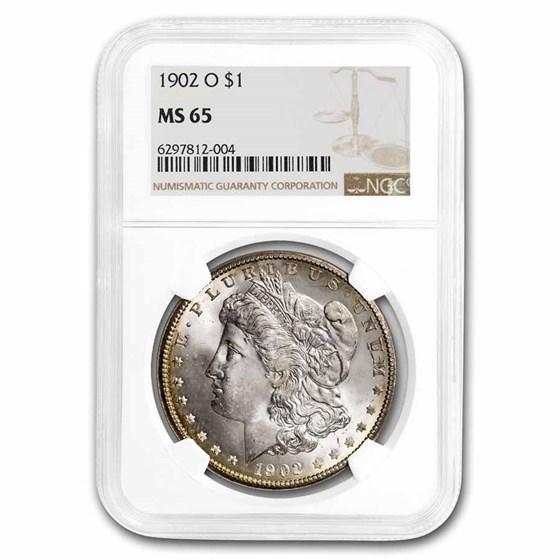 1902-O Morgan Dollar MS-65 NGC