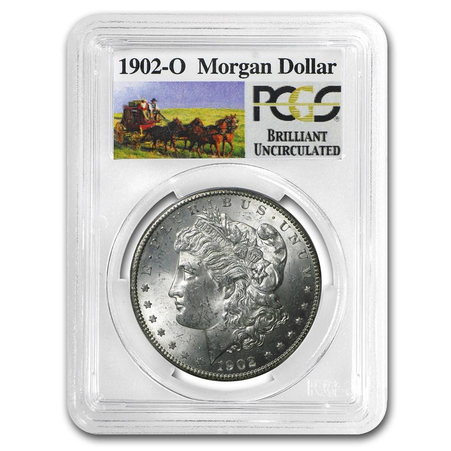 1902-O Stage Coach Morgan Dollar BU PCGS