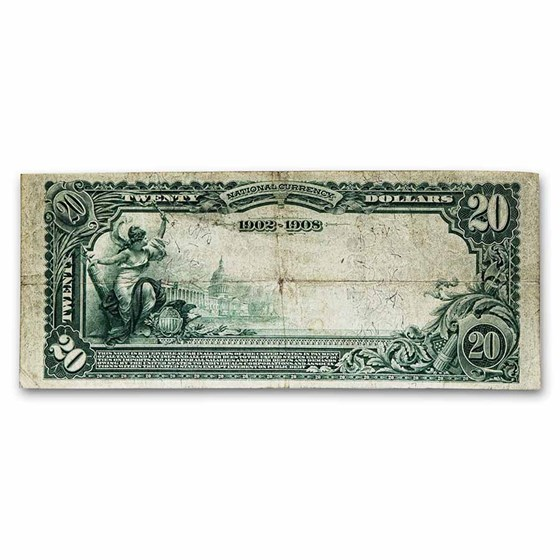 1902 Plain Back $20 Los Angles, CA VF (Fr#TBD) CH#4096