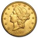 1902-S $20 Liberty Gold Double Eagle AU