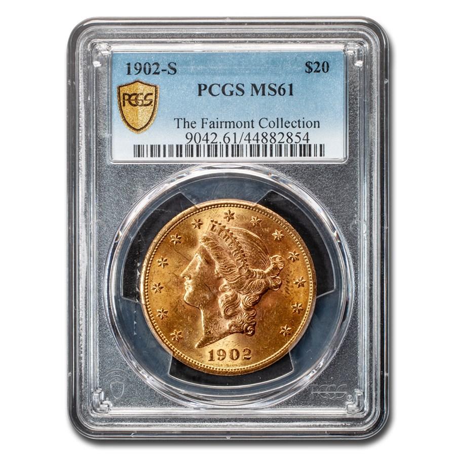 1902-S $20 Liberty Gold Double Eagle MS-61 PCGS