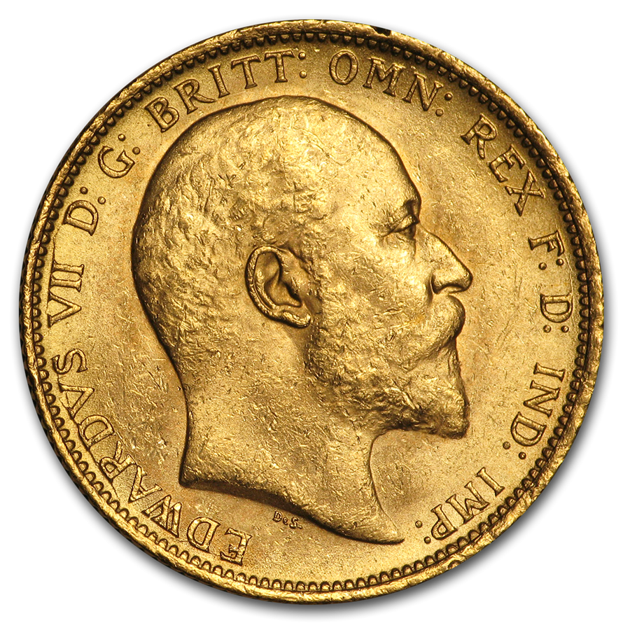 1902-S Australia Gold Sovereign Edward VII BU
