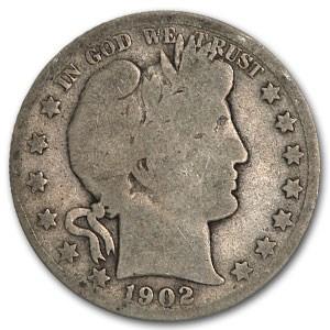 1902-S Barber Half Dollar AG