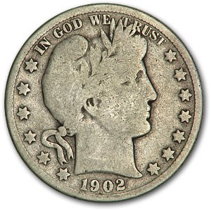 1902-S Barber Half Dollar Good