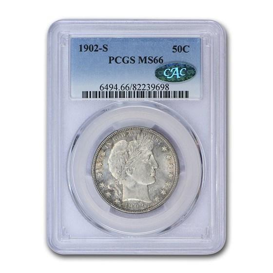 1902-S Barber Half Dollar MS-66 PCGS CAC