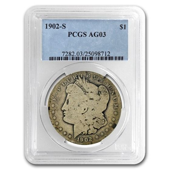 1902-S Morgan Dollar AG-3 PCGS (Low Ball Registry)