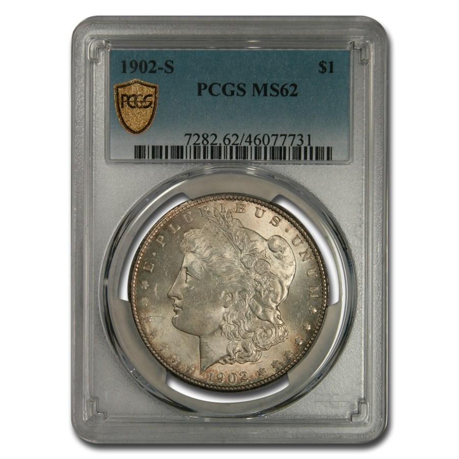 1902-S Morgan Dollar MS-62 PCGS