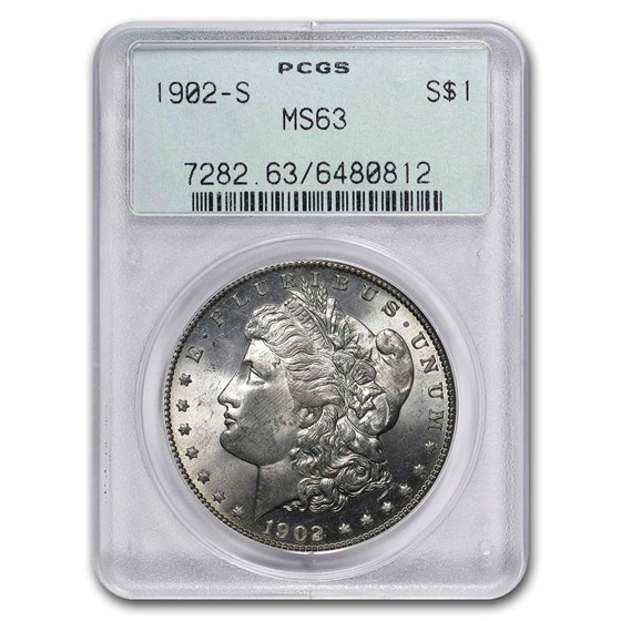1902-S Morgan Dollar MS-63 PCGS