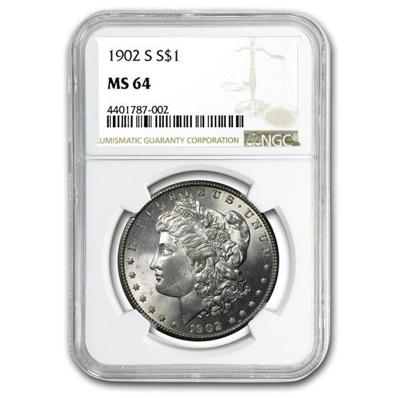 1902-S Morgan Dollar MS-64 NGC (USE 13212)