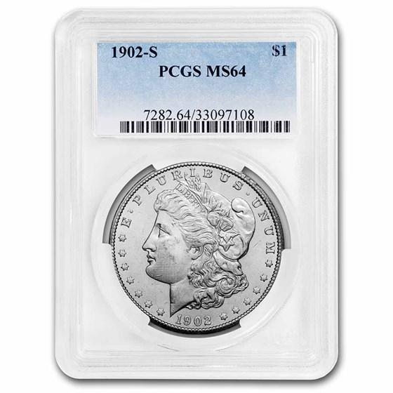 1902-S Morgan Dollar MS-64 PCGS