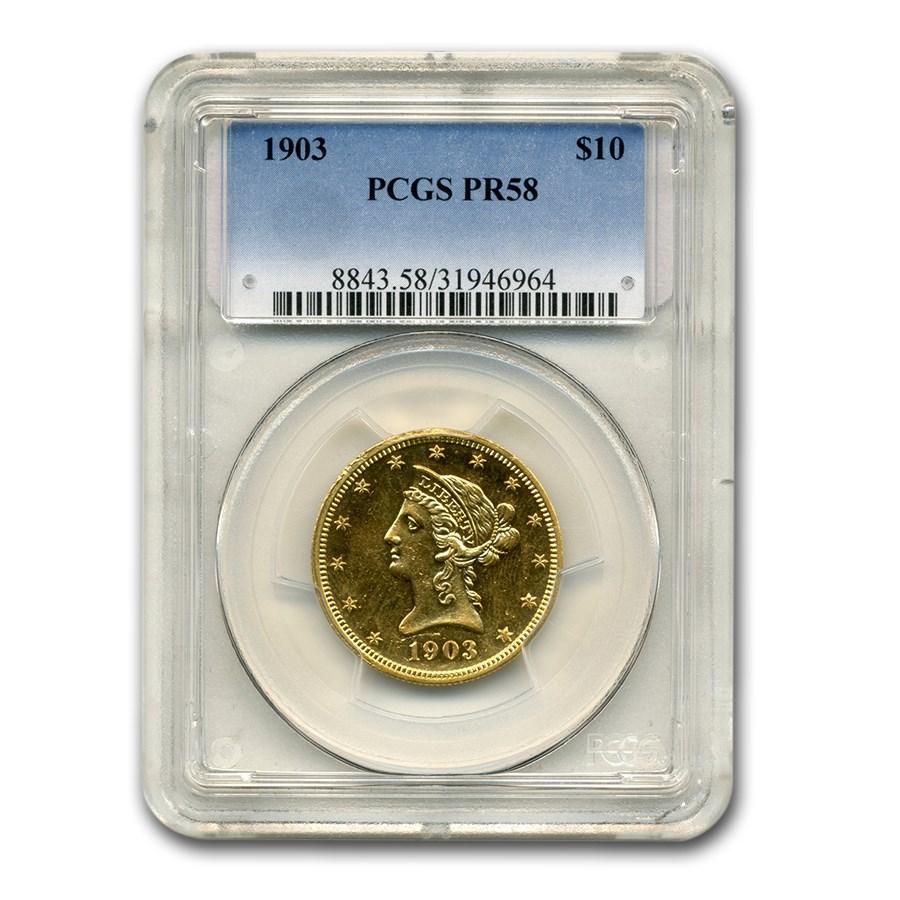 1903 $10 Liberty Gold Eagle PR-58 PCGS