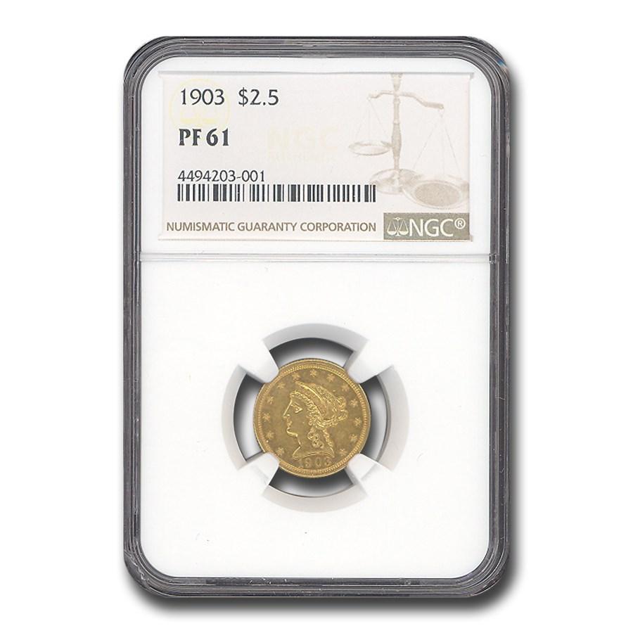 1903 $2.50 Liberty Gold Quarter Eagle PF-61 NGC