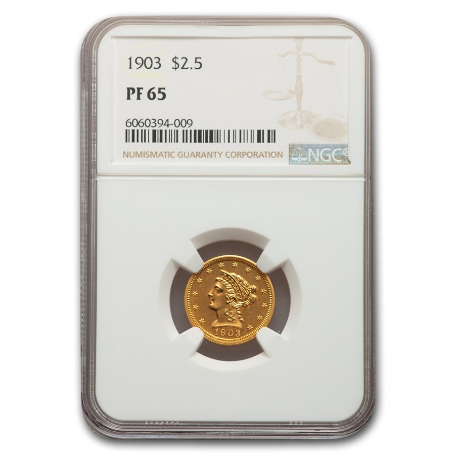 1903 $2.50 Liberty Gold Quarter Eagle PF-65 NGC