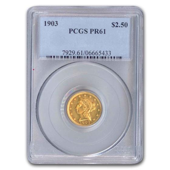 1903 $2.50 Liberty Gold Quarter Eagle PR-61 PCGS
