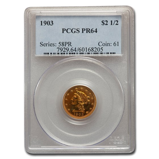 1903 $2.50 Liberty Gold Quarter Eagle PR-64 PCGS