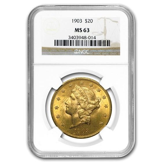 1903 $20 Liberty Gold Double Eagle MS-63 NGC