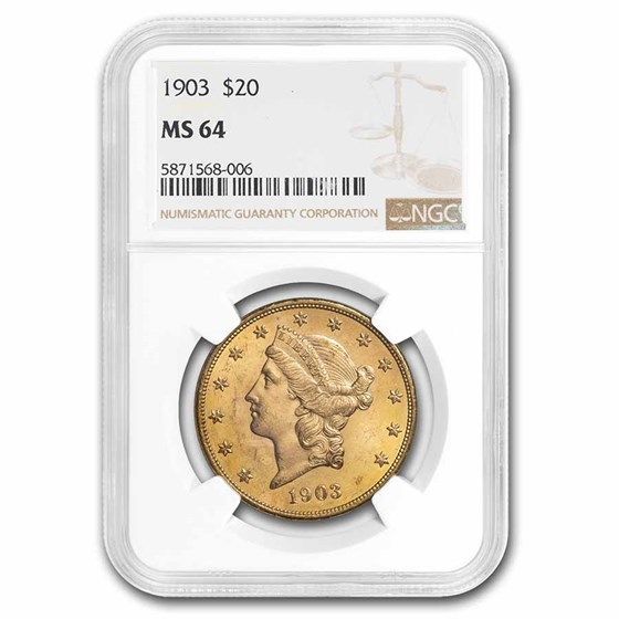 1903 $20 Liberty Gold Double Eagle MS-64 NGC