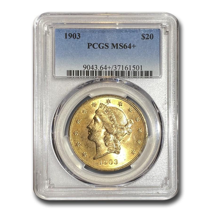 1903 $20 Liberty Gold Double Eagle MS-64+ PCGS