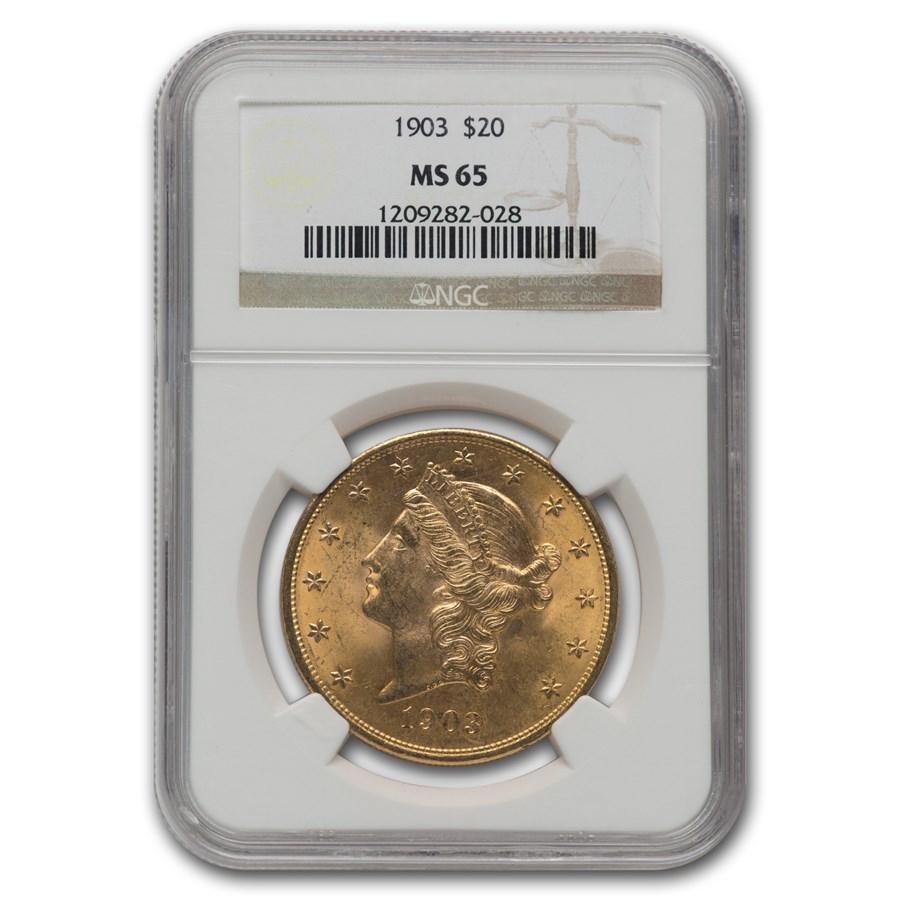 1903 $20 Liberty Gold Double Eagle MS-65 NGC