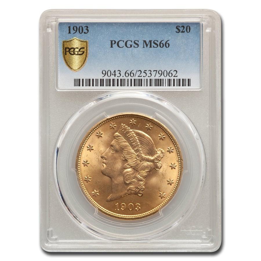 1903 $20 Liberty Gold Double Eagle MS-66 PCGS