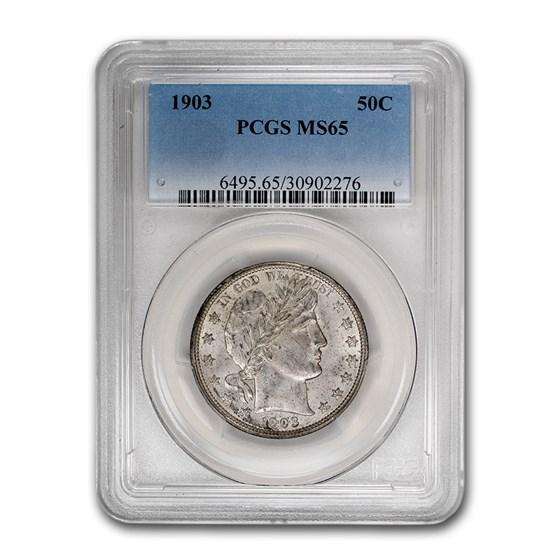 1903 Barber Half Dollar MS-65 PCGS