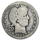 1903 Barber Quarter Good/VG