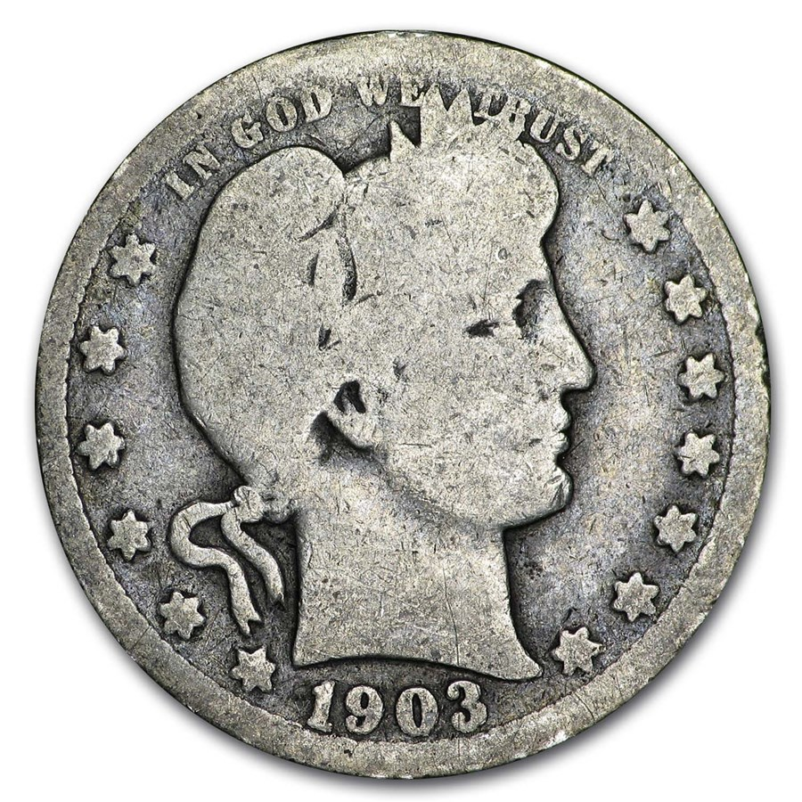 1903 Barber Quarter Good/VG