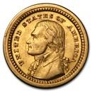 1903 Gold $1.00 Louisiana Purchase Jefferson AU
