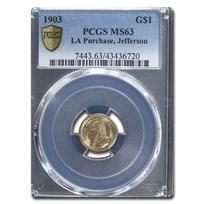 1903 Gold $1.00 Louisiana Purchase Jefferson MS-63 PCGS