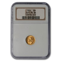 1903 Gold $1.00 Louisiana Purchase Jefferson MS-66 NGC