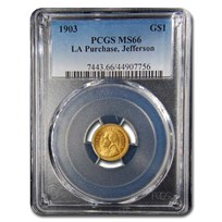 1903 Gold $1.00 Louisiana Purchase Jefferson MS-66 PCGS