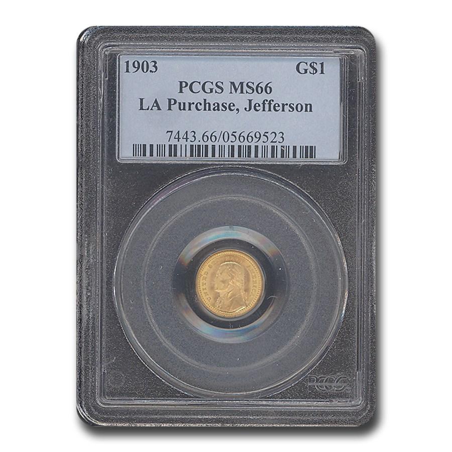 1903 Gold $1.00 Louisiana Purchase Jefferson MS-66 PCGS